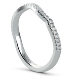 Matching Sunburst Diamond Wedding Ring In Platinum | Thumbnail 04