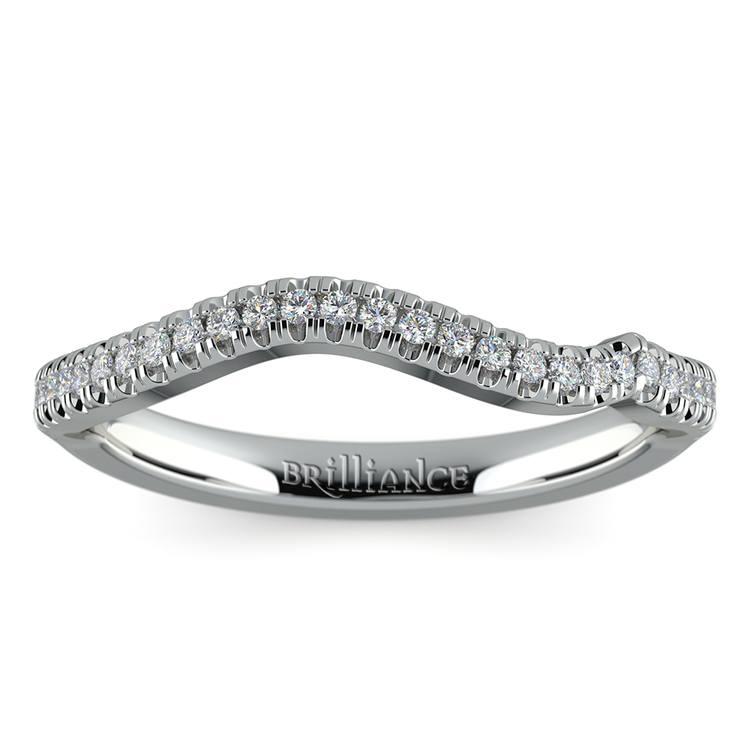 Matching Sunburst Diamond Wedding Ring In Platinum | 02