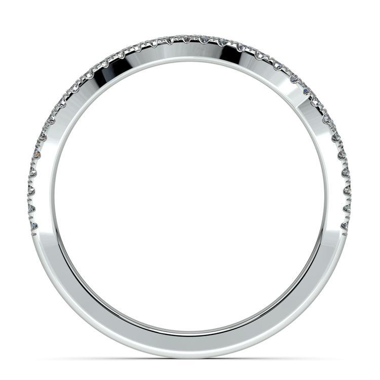 Matching Sunburst Diamond Wedding Ring In Platinum | 03