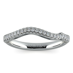 Matching Sunburst Diamond Wedding Ring in White Gold | Thumbnail 02