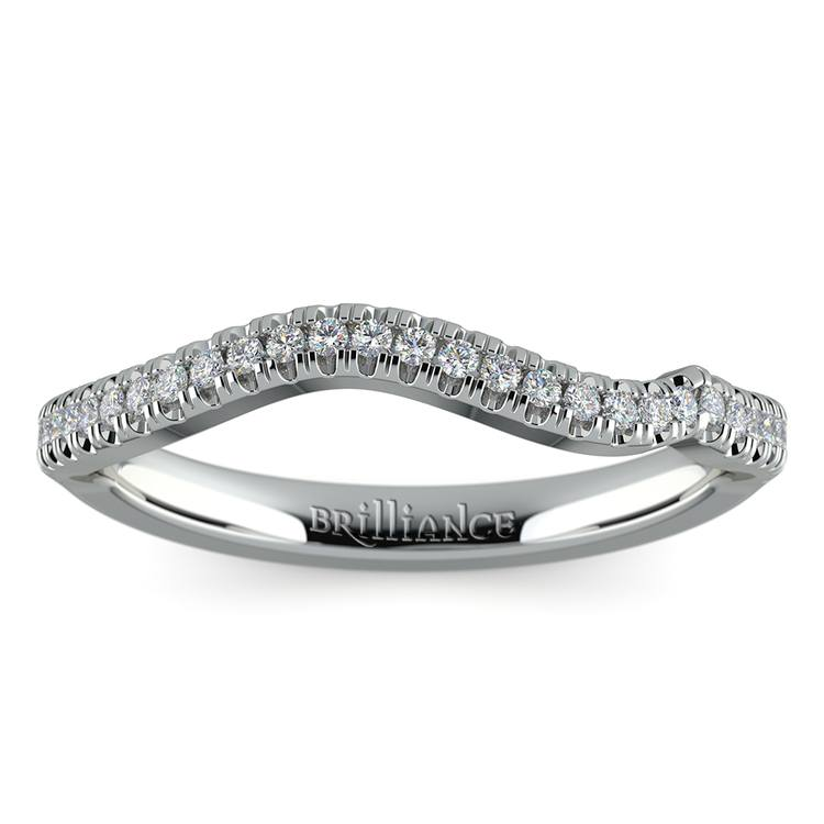 Matching Sunburst Diamond Wedding Ring in White Gold | 02
