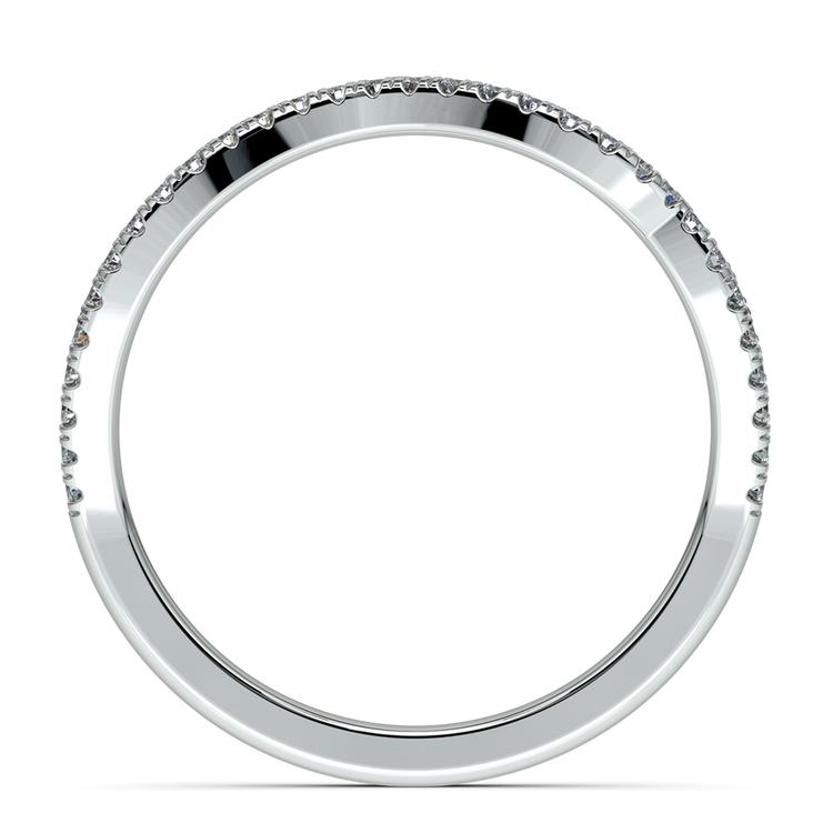Matching Sunburst Diamond Wedding Ring in White Gold | 03