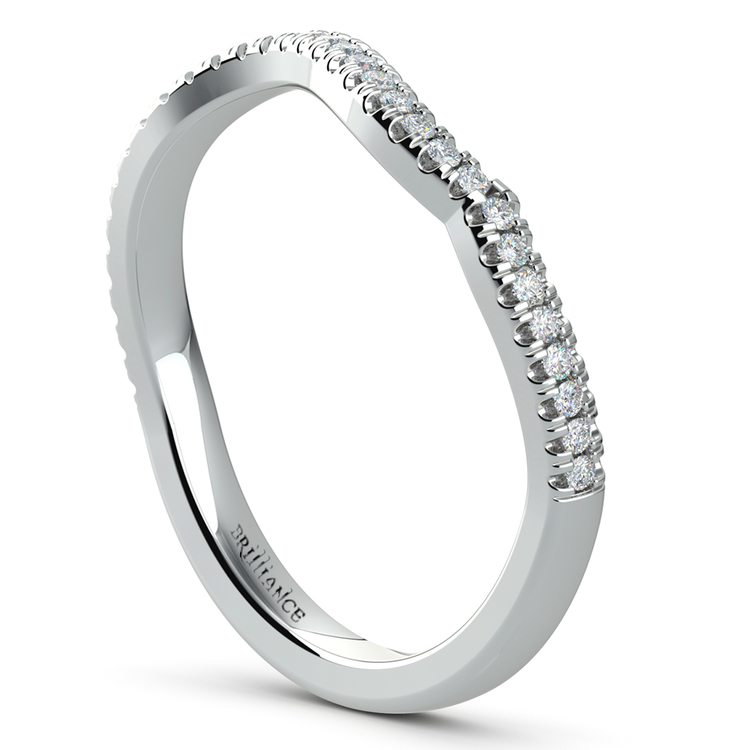 Matching Sunburst Diamond Wedding Ring in White Gold | 04