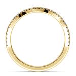 Matching Sunburst Diamond Wedding Ring In Yellow Gold | Thumbnail 03