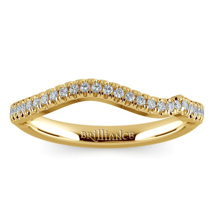 Matching Sunburst Diamond Wedding Ring In Yellow Gold | 02