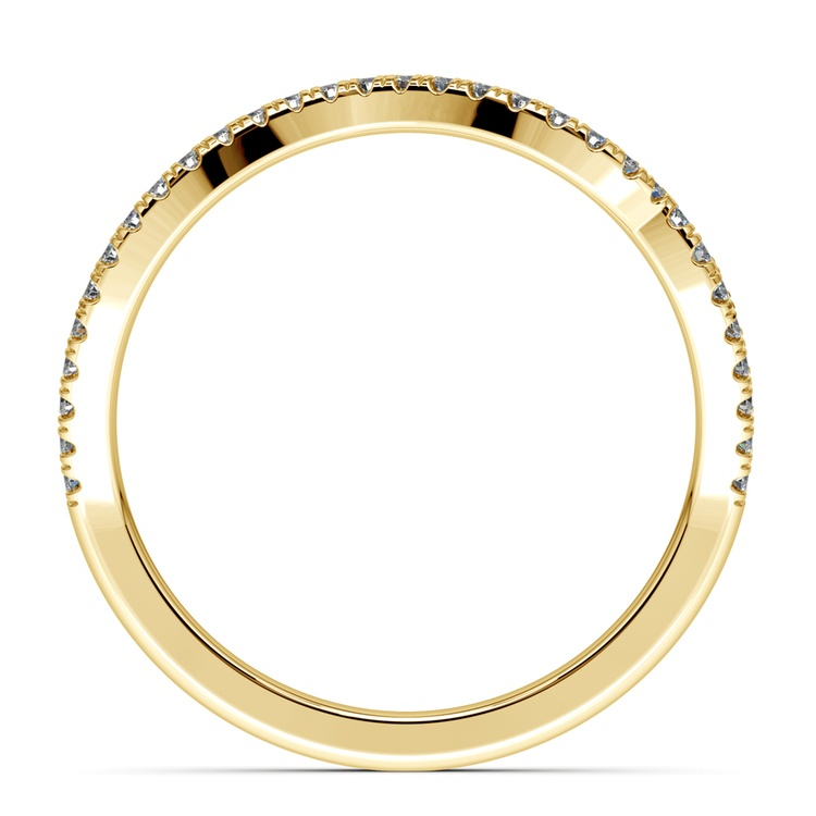 Matching Sunburst Diamond Wedding Ring In Yellow Gold | 03