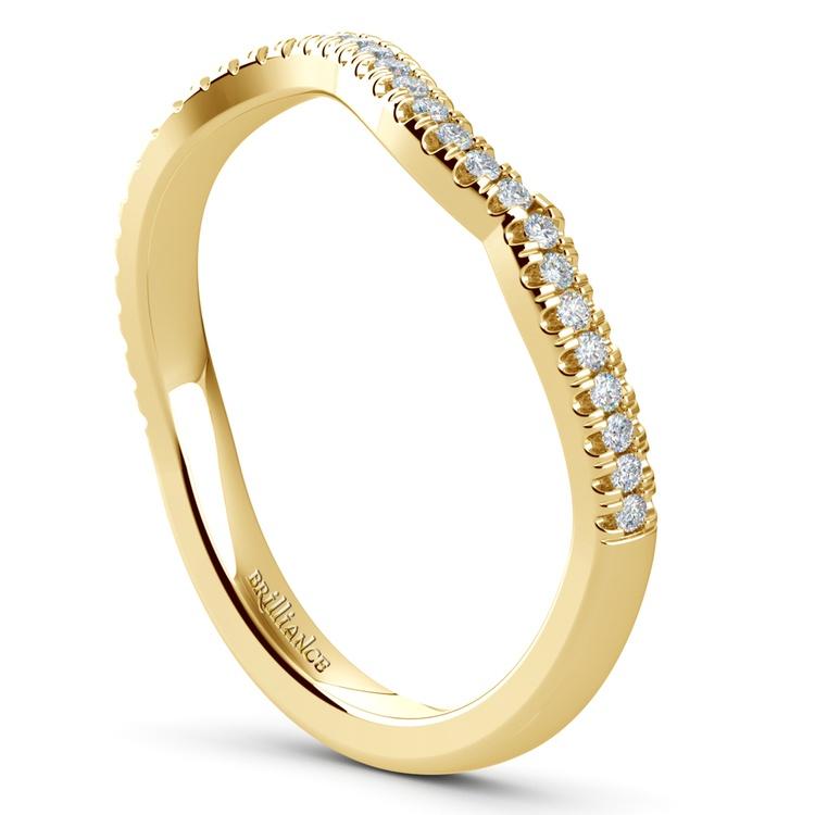Matching Sunburst Diamond Wedding Ring In Yellow Gold | 04