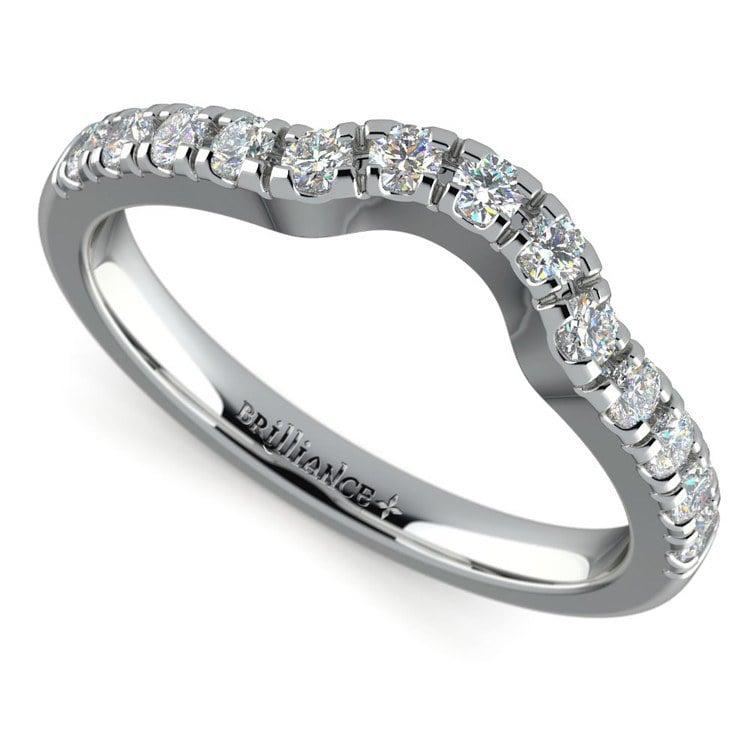 Matching Trellis Diamond Wedding Ring in Platinum | 01