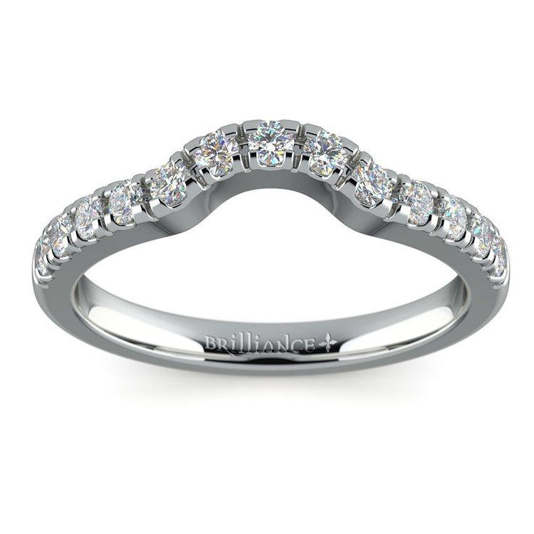 Matching Trellis Diamond Wedding Ring in Platinum | 02