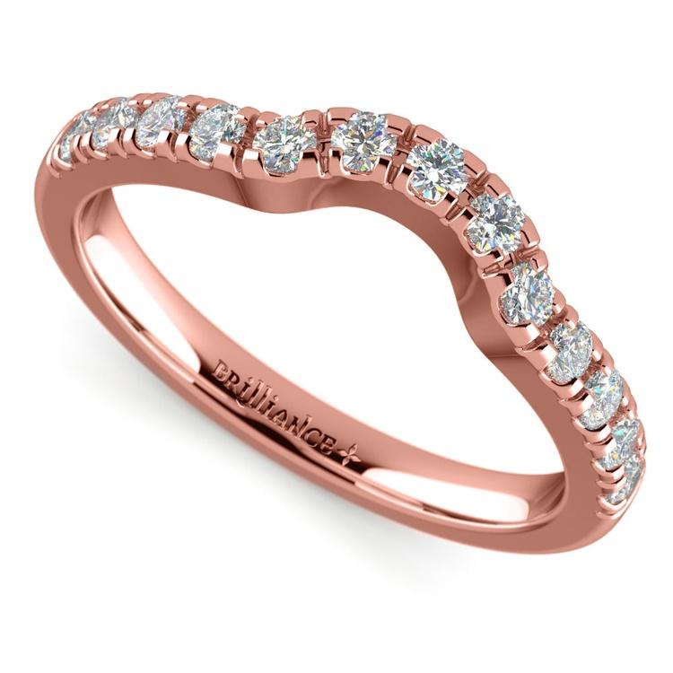 Matching Trellis Diamond Wedding Ring in Rose Gold | 01