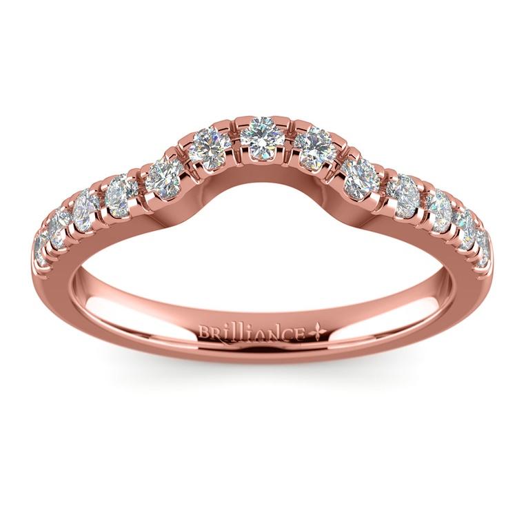 Matching Trellis Diamond Wedding Ring in Rose Gold | 02