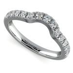 Matching Trellis Diamond Wedding Ring in White Gold | Thumbnail 01