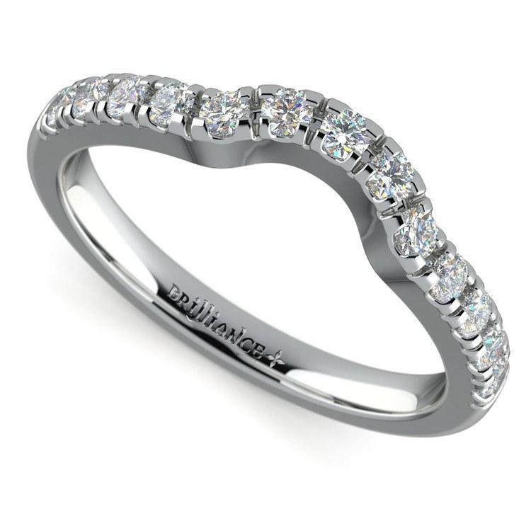 Matching Trellis Diamond Wedding Ring in White Gold | 01