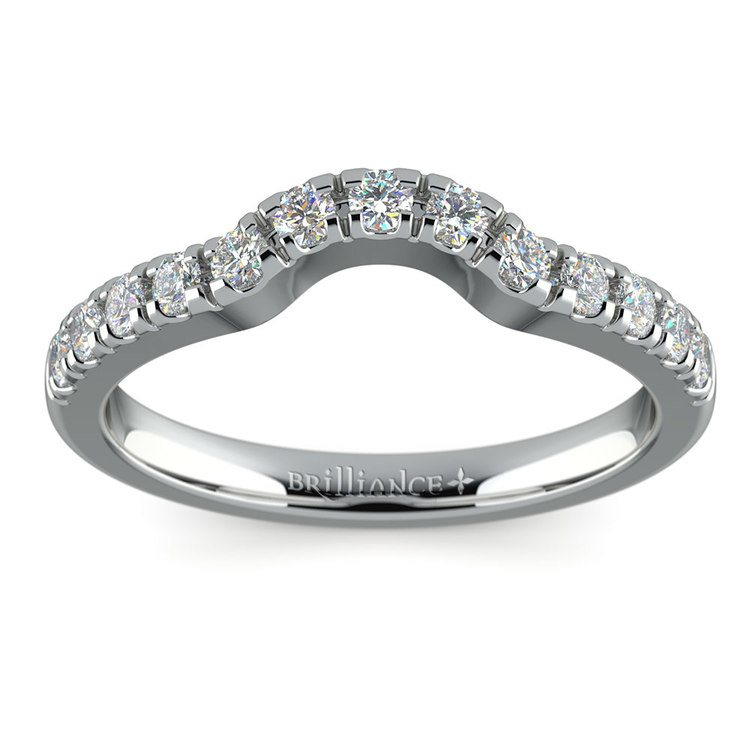 matching trellis wedding ring in white gold