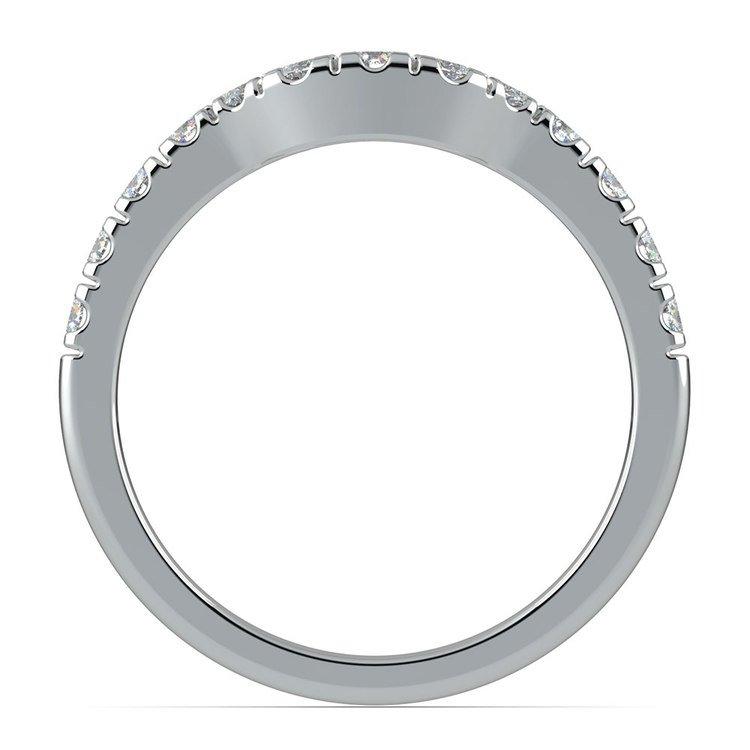 Matching Trellis Diamond Wedding Ring in White Gold | 03