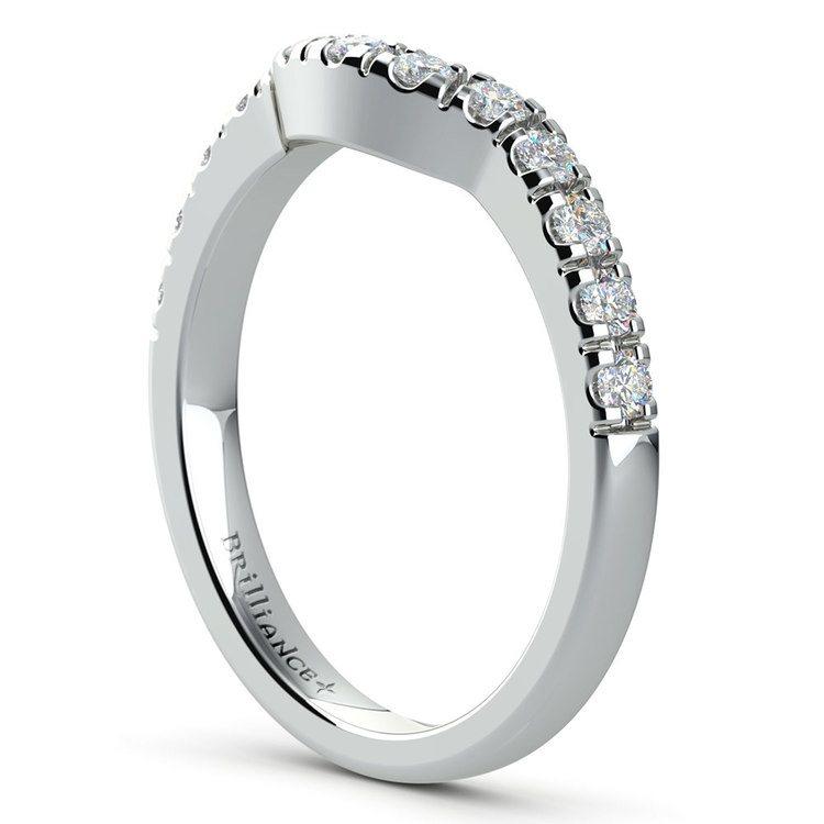Matching Trellis Diamond Wedding Ring in White Gold | 04
