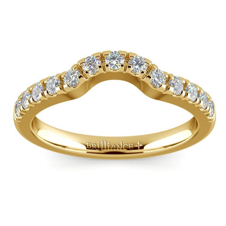 Matching Trellis Diamond Wedding Ring in Yellow Gold | 02