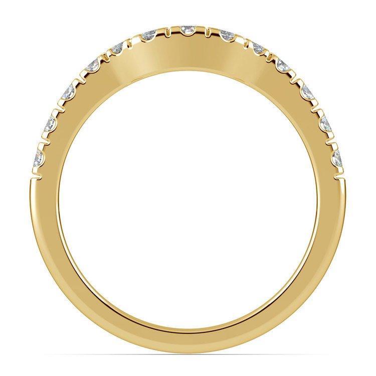 Matching Trellis Diamond Wedding Ring in Yellow Gold | 03