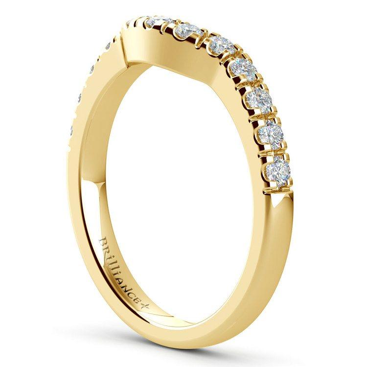 Matching Trellis Diamond Wedding Ring in Yellow Gold | 04