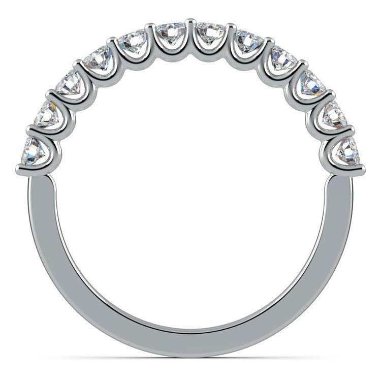 Matching U-Prong Diamond Wedding Ring in Platinum | 03