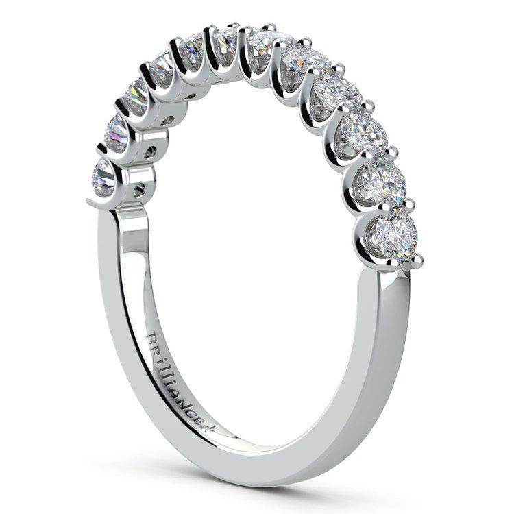 Matching U-Prong Diamond Wedding Ring in Platinum | 04