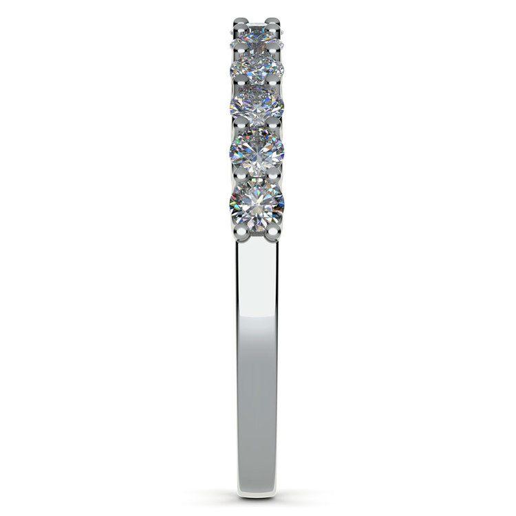 Matching U-Prong Diamond Wedding Ring in Platinum | 05