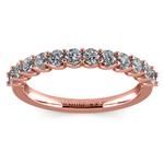 Matching U-Prong Diamond Wedding Ring in Rose Gold | Thumbnail 02