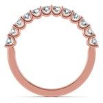 Matching U-Prong Diamond Wedding Ring in Rose Gold | Thumbnail 03