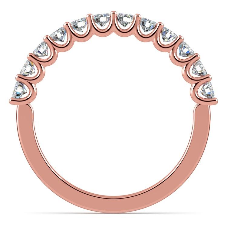 Matching U-Prong Diamond Wedding Ring in Rose Gold | 03