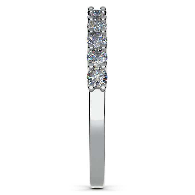 Matching U-Prong Diamond Wedding Ring in White Gold | 05