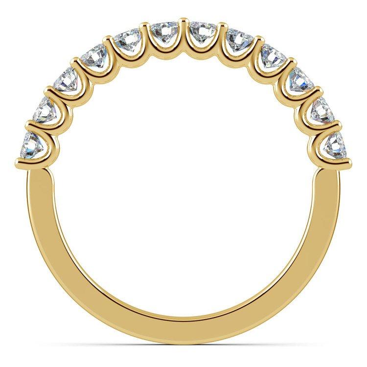 Matching U-Prong Diamond Wedding Ring in Yellow Gold | 03