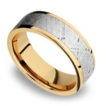Solar Flare - 14K Yellow Gold Mens Band with Meteorite Inlay | Thumbnail 01