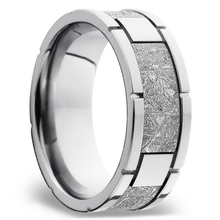 Meteorite Inlay Men's Wedding Band in Cobalt Chrome (8mm) | 02