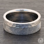 Orbiter - Hammered Cobalt Mens Meteorite Ring | Thumbnail 03