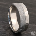 Orbiter - Hammered Cobalt Mens Meteorite Ring | Thumbnail 04