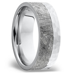 Orbiter - Hammered Cobalt Mens Meteorite Ring | Thumbnail 02
