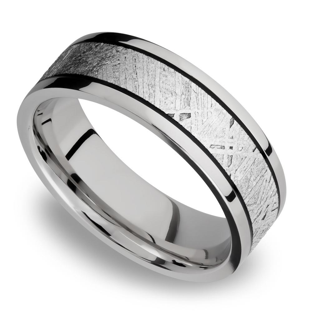 Lightyear - Titanium Meteorite Mens Wedding Band