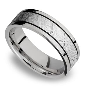 Lightyear - Titanium Meteorite Mens Wedding Band