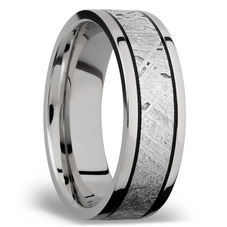 Meteorite Inlay Men's Wedding Ring in Titanium (7.5mm) | 02