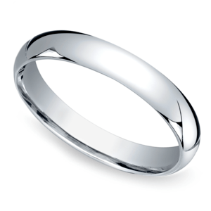 Mid-Weight Men's Wedding Ring in Platinum (4mm)