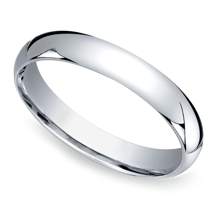 Mid-Weight Men's Wedding Ring in Platinum (4mm) | 01
