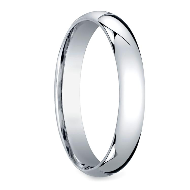Platinum 4mm Wedding Band: Mid-Weight Men's Wedding Ring In Platinum (4mm