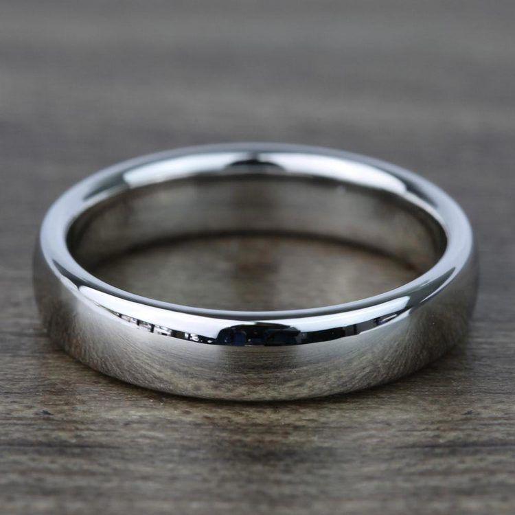 Mid-Weight Men's Wedding Ring in Platinum (4mm) | 05