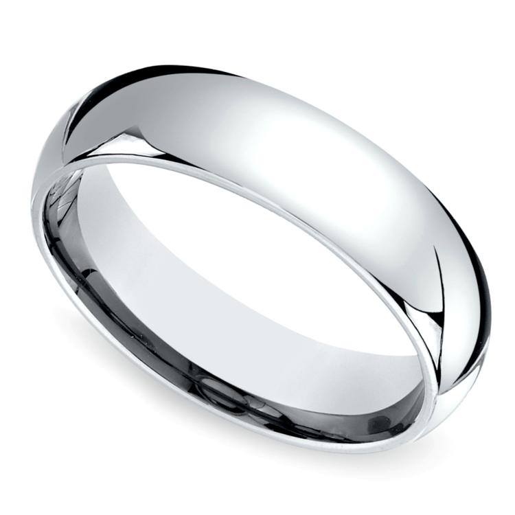 Mid-Weight Men's Wedding Ring in Platinum (6mm) | 01