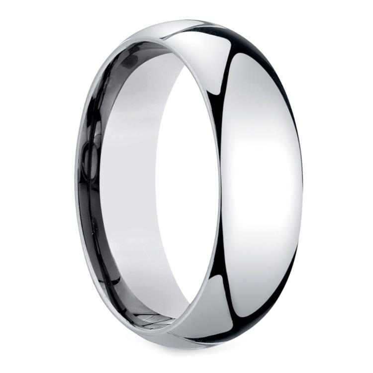Mid-Weight Men's Wedding Ring in Platinum (7mm) | 02