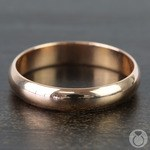 Mid-Weight Men's Wedding Ring in Rose Gold (4mm) | Thumbnail 03