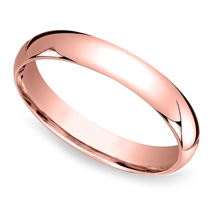 Mid-Weight Men's Wedding Ring in Rose Gold (4mm)