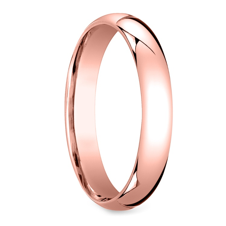Mid-Weight Men's Wedding Ring in Rose Gold (4mm) | 02