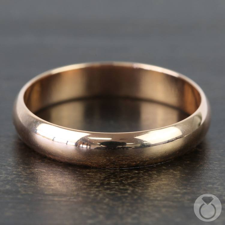 Mid-Weight Men's Wedding Ring in Rose Gold (4mm) | 03