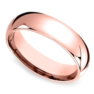 Mid-Weight Men's Wedding Ring in Rose Gold (6mm)